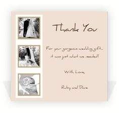 Wedding Thank You Notes on Pinterest Thank you cards, Wedding thank ...