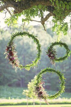 brides of adelaide magazine wedding decoration wreath garden