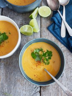 Karrisuppe med linser Thai Red Curry, Nom Nom, Tapas, Ethnic Recipes, Mat, Food, Meal, Essen, Hoods