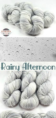 Knit, crochet, and create with hand dyed yarn inspired by the cozy shades of a rainy afternoon. These luscious silver grays are found on our Trinket sport weight base, Superwash Merino Wool. Crochet Yarn, Knitting Yarn, Knitting Patterns, Crochet Crafts, Diy Craft Projects, Diy Crafts, Yarn Inspiration, Sport Weight Yarn, Yarn Stash