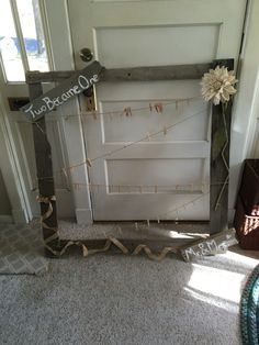 Made this out of two bad pallets. The clothespins held 4x6 photos at our wedding reception