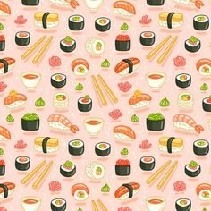 R_____-sushi-and-rolls-seamless-pattern-on-pink-background_shop_preview