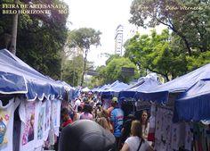 Feira de artesanato que acontece no centro de Belo Horizonte aos domingos de manhã. Tem uma variada gama de produtos.