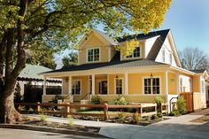 Nice house for a Bed & Breakfast in the countryside  12 Charming Yellow Houses - Town & Country Living