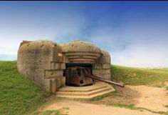 German fortification in Normandy, between Gold and Omaha beaches.