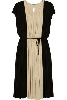 Tomas Maier Jersey Dress / Net A Porter - This dress is so versatile.  Add a nice blazer for work or spice it up with cool accessories for a date!  Very pretty and looks to be quite forgiving to the figure too!