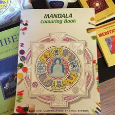 we have really beautiful illustrated Coloring Books from Nepal!!! $12.99  #create #creation #mandala #coloringbook #channel #vibe #goodvibes #atx #austin #Namaste # by mandalatibetanshop
