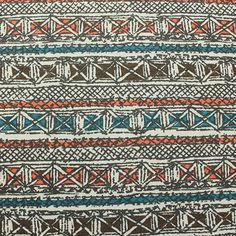 Aztec Rows on Pale Yellow Cotton Jersey Blend Knit Fabric :: $5.25