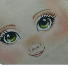 Eye Painting, Doll Painting, Pretty Dolls, Cute Dolls, Doll Crafts, Diy Doll, Fabric Dolls, Paper Dolls, Doll Face Paint