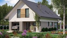 Projekt domu z poddaszem KA33 o pow. 115,3 m2 z garażem 1-st., z dachem dwuspadowym, z tarasem, sprawdź! Gazebo, Iron Pergola, Aluminum Pergola, Pergola Carport, Backyard Pergola, Pergola Plans, Petite Pergola, Small Pergola, Pergola Attached To House