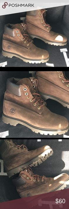 """Timberland 6"""" Premium Waterproof Leather 7.5 M LN Women's Coveted 6"""" double sole premium waterproof nubuck leather size 7.5 medium  WORN ONCE IN EXCELLENT CLEAN CONDITION WITH MINIMAL WEAR Timberland Shoes Ankle Boots & Booties"""