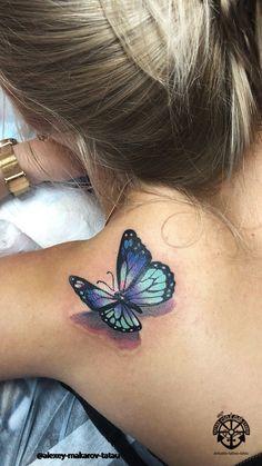Tattoo Aleksey Makarov - Tattoos Foto im Stil Realistisch, weiblich, Butterfli Baby Tattoos, Girly Tattoos, Foot Tattoos, Cute Tattoos, Beautiful Tattoos, Body Art Tattoos, Small Tattoos, Sleeve Tattoos, Tattoos For Guys