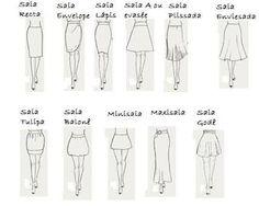 0992134dc7e 23 melhores imagens de Tipos de saias