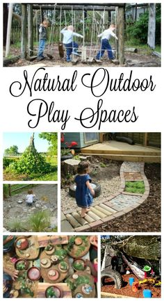 Gorgeous and Natural outdoor play spaces - these are perfect backyard ideas for preschoolers! kids play area natural materials Gorgeous and Inviting Outdoor Play Spaces - How Wee Learn Outdoor Learning Spaces, Kids Outdoor Play, Outdoor Play Areas, Backyard For Kids, Outdoor Fun, Outdoor Toys, Indoor Play, Natural Outdoor Playground, Outdoor Play Kitchen