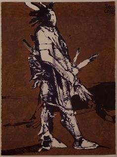 Fritz Scholder (Luiseño, 1937–2005), Sioux Chief, 1979, lithograph on paper. Donated by Loretta and Victor Kaufman. Autry National Center; 2012.37.33