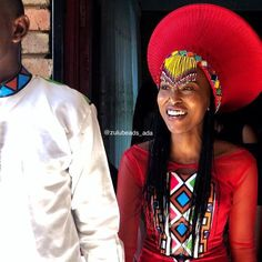 Medium or large Zulu beaded isicholo with beaded veil South African Tribes, Zulu Women, African Traditional Wear, Latest African Fashion Dresses, African Beads, Black Love, Traditional Wedding, Bridal Style, Wedding Attire