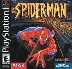 Spider-Man (Sony PlayStation 1, 2000 Marvel comics VERY RARE PS 1 game PS1