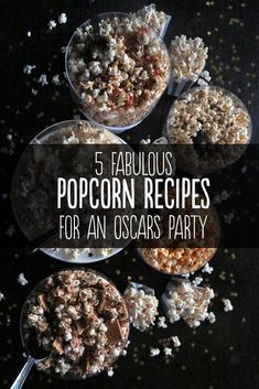 Popcorn Recipes for an Oscars Party