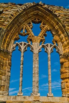 East Window  -  Whitby Abbey  -  North Yorkshire, England  -  built about 1220  -  Gothic architecture
