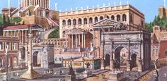 Reconstruction of the Roman Forum.