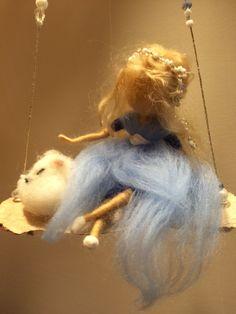 Nadel Filz Fairy Waldorf inspirierte Fairy mit von DreamsLab3