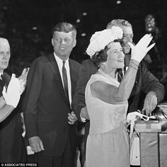 Rose waves to delegates at the democratic national convention in Los Angeles on July 13, 1...