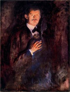 Autorretrato Fumando Cigarro - Self-Portrait with Burning Cigarette Munch, Edvard Óleo | (1895) National Gallery of Norway | Oslo - Noruega Dimensões da obra: 110.5 x 85.5 cm