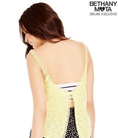 Sheer Swing Back Cropped Cami - Summer Bethany Mota Collection
