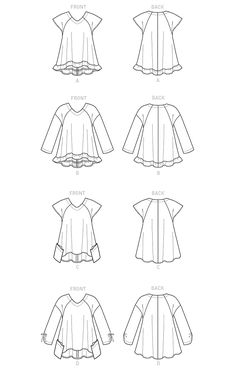 Butterick 6215 Misses' Top Bag Patterns To Sew, Sewing Patterns, Casual Work Outfit Winter, Patron Simplicity, Patron Butterick, Fashion Vocabulary, Dresses Kids Girl, Drawing Clothes, Top Pattern