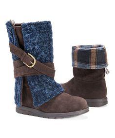 Another great find on #zulily! Dark Brown Nikki Boot - Women by MUK LUKS #zulilyfinds