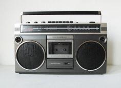 SCR réaliste 3 1980 s 2 haut-parleur Cassette Radio du lecteur de cassettes stéréo Boombox