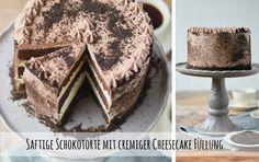 Saftige Schokotorte mit cremiger Cheesecake Füllung