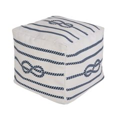 Feeling a little nautical? This oh-so versatile pouf really is the perfect little accent piece in a nursery!