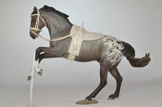 Vaulting tack on a model horse