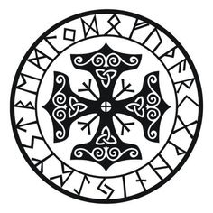 Viking protection runes talisman black vinyl decal via Etsy