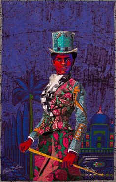 Contemporary Quilting of African American Portraits Carry On the Tradition Old Family Photos, Family Photo Album, Josephine Baker, Colorful Quilts, Small Quilts, African American Artist, American Artists, African Art, Long Arm Quilting Machine
