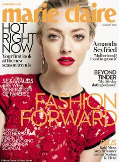 Read all about it! The August issue of Marie Claire - with Amanda's complete interview - is on sale from Thursday 2 July