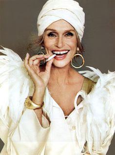 Lauren Hutton #turbans