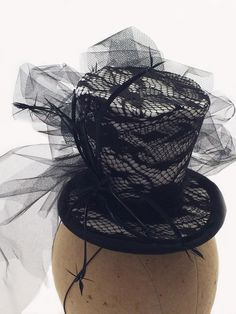 Mini Top Hat Workshop!  Saturday, Oct 22, 2016 12-4 pm Bay Willow Millinery Studio 222 E. Virginia McKinney, TX    You will learn how to create your own mini top hat using classic millinery techniques and construction elements. Just in time for Halloween, Holiday Parties, and to impress your Steampunofk friends. $95.00 includes construction materials & a selection of trimmings- you just need a bit of awesome fabric and some of your favorite ideas! Only 5 students accepted.   I will be…