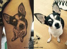 Chihuahua Dog tattoo by Zindy Ink