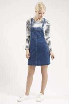 Photo 2 of MOTO Denim Pocket Pinafore Dress