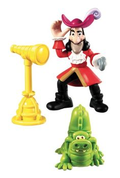 (FOR EITHER) Amazon.com: Fisher-Price Jake and the Never Land Pirates: Hook & Tick Tock Figure Pack: Toys & Games