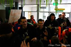 July 15, 2013.  The day after the Zero Fees Southland Sharks were crowned NBL Champions, most of the team arrived home at Invercargill airport to a waiting and proud crowd. Full story on our website.