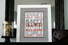 10 Free Halloween Subway Art Printables