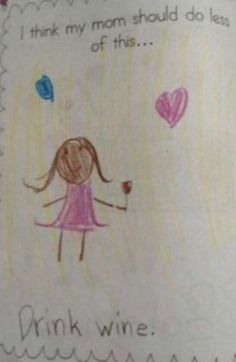 one day our kids will make drawings like this of us corin burke - Fun Drawings For Kids