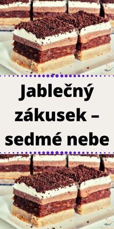 Czech Recipes, Ethnic Recipes, Pavlova, Cake Cookies, Tiramisu, Food And Drink, Sweets, Apple, Homemade