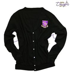 Black Crest Cardigan--a DPhiE Designs staple piece!
