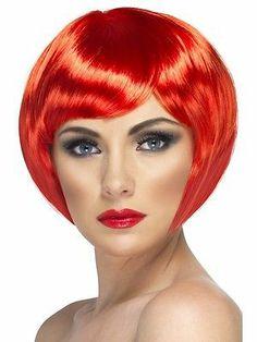Ladies Neon Babe Short Bob Fringe Wig Hen Night 70s/80s/90s Disco Fancy Dress   eBay