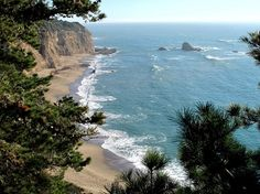Greyhound Rock Beach, Santa Cruz, California. My fave beach in the world but it's a dangerous climb down & back up.