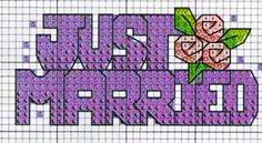 just married - matrimonio - punto croce - cross Stitch - Kreuzstich - Punto de Cruz